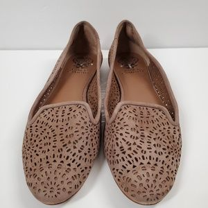 Vince Camuto Women's Size 8 Lazer Cut Suede Loafer